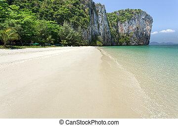 tropical karstic island
