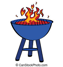 Barbecue - Cartoon illustration of a barbecue grill
