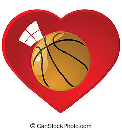 I love basketball - Glossy illustration of a basketball...