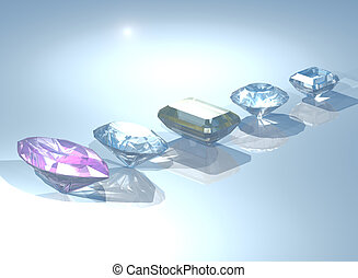 gemstones - 3d render