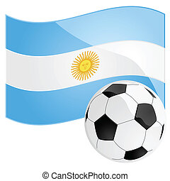Argentina soccer - Illustration of a soccer ball in front of...
