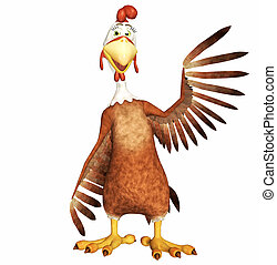 rooster toon - 3d render