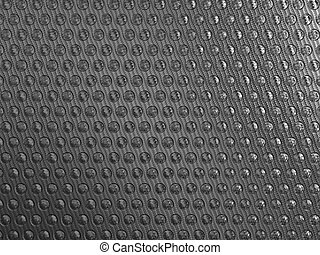 Carbon fibre background with round shapes pattern. Large...