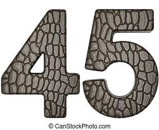 Alligator skin font 4 5 digits