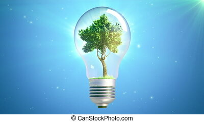 new energy bulb tree loop - green Tree Inside A lightbulb...