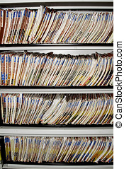 Medical records shelf