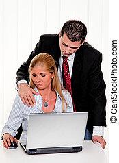 sexual, assédio, local trabalho