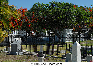 Very old cemetary located at Key West Florida.