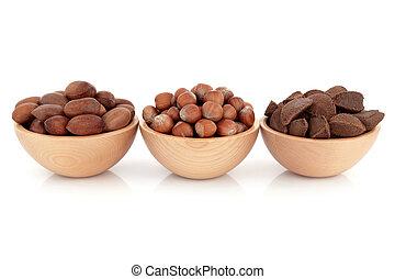 Pecan, Hazelnut and Brazil Nuts - Pecan, hazelnut and brazil...