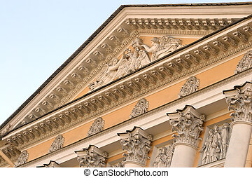 Pediment  - Pediment, St.Petersburg, Russia