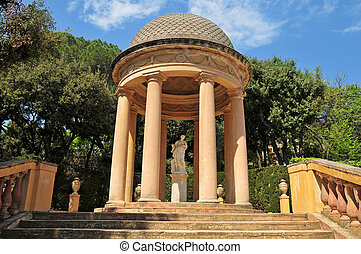 Parc del Laberint d'Horta in Barcelona, Spain - Detail of a...