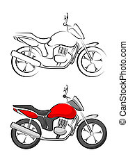 Stylised Motorcycle Vector illustration
