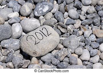 Year of 2012 on flintstone along the coast - Lots of...