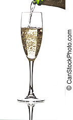 Servire, champagne