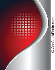 Business background red and silver, vector.
