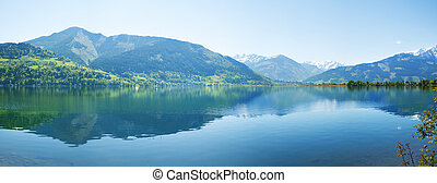 Zell lake, Zell Am Zee, Austria - Zell lake in Zell Am See,...