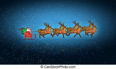 Santa with reindeer in loop - Christmas concept
