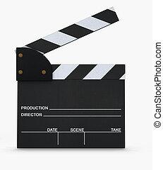 movie slate - 3d render
