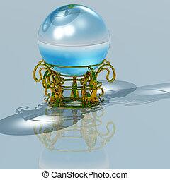 crystal globe - 3d render