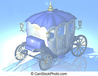 Cinderella's carriage - 3d render
