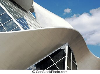 Gallery Curve - Curved architecture of public art gallery,...