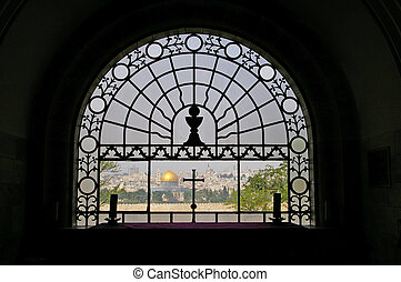 View of Jerusalem from church - View of Jerusalem from...