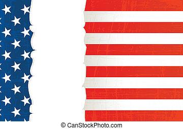 Grunge USA flag background
