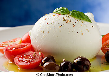 Tomato Mozzarella Salad - deliciious buffalo mozzarella with...