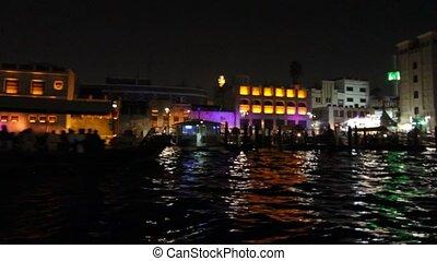 Dubai Creek By Night