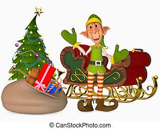 christmas elf - 3d render