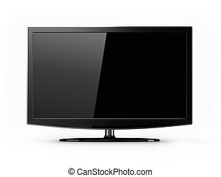 Widescreen tv isolated - modern full hd tv