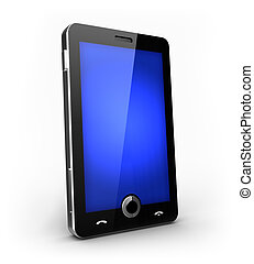 Futuristic mobile phone - Cellphone with touchscreen