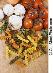 Italian tricolore pasta