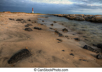 Barnegat Lighthouse State Park - View from the beach at...