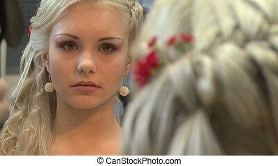 Blonde in a beauty salon