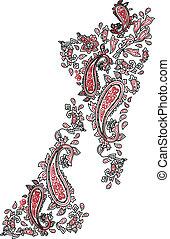Kashmir fashion floral