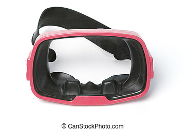 Red diving goggles