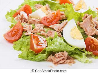 Eggs and tuna salad