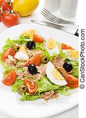 Egg and tuna meat salad