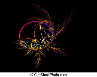 dream catcher - Abstract illustration of dream catcher on...