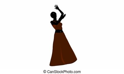 African American Belly Dancer - African american female...