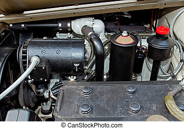 Detail of Car Engine - Detail of M8 Light Armored Car...