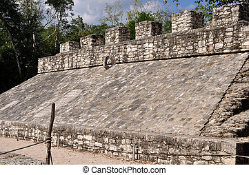 Coba Mayan Court Game Ancient Ruins in Mexico