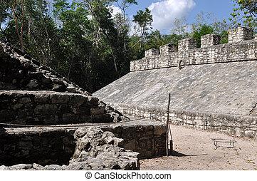Coba Mayan Ruin Court Game