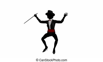 Tap Dancer - Tap dancerl dancing on a white background