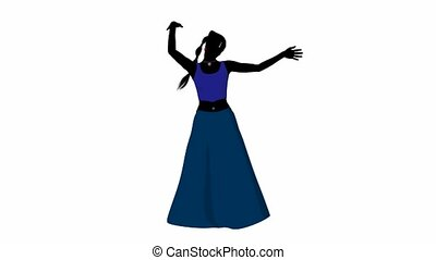 Belly Dancer - Female belly dancer illustration silhouette...