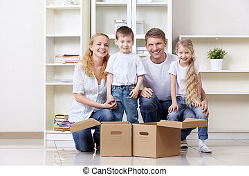 Families with young children at home