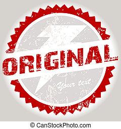 Original red grunge stamp