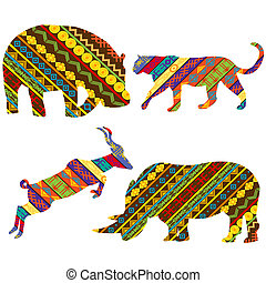 African animals - Set of African animals