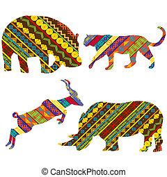 African animals - Set of African animals